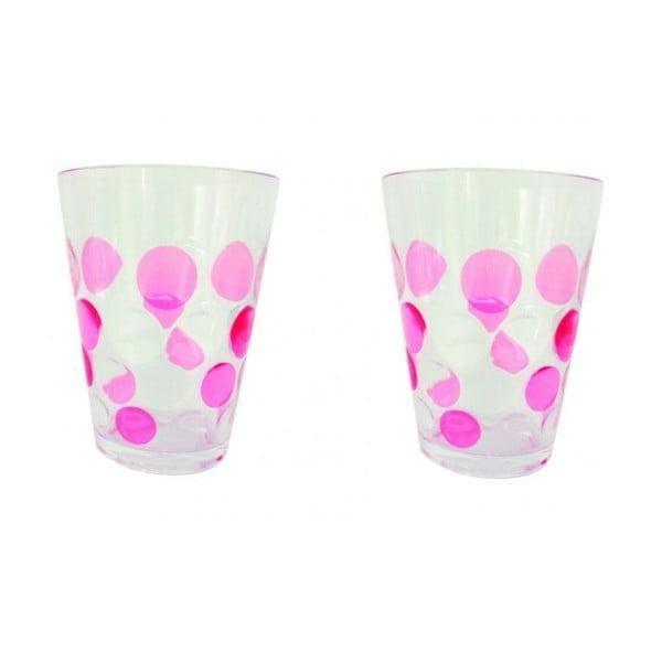 Sada růžových sklenic Spot 250 ml, 2 ks