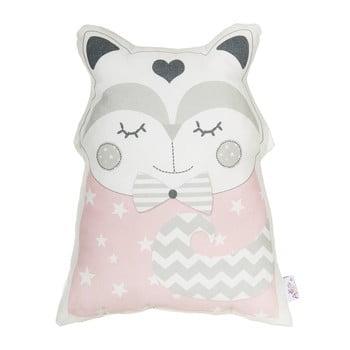 Pernă din amestec de bumbac pentru copii Apolena Pillow Toy Smart Cat, 23 x 33 cm, roz imagine