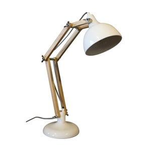 Bílá stolní lampa z borovicového dřeva a kovu Red Cartel Dexter