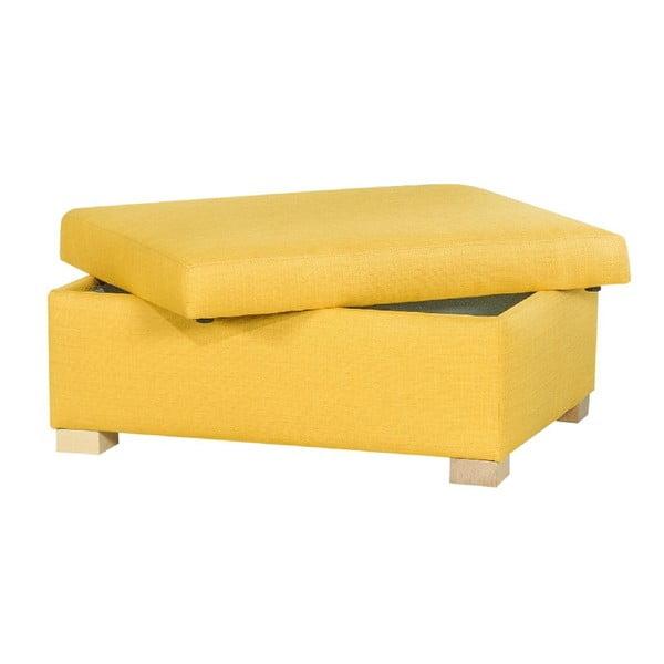 Taburetka s úložným prostorem A-Maze, žlutá
