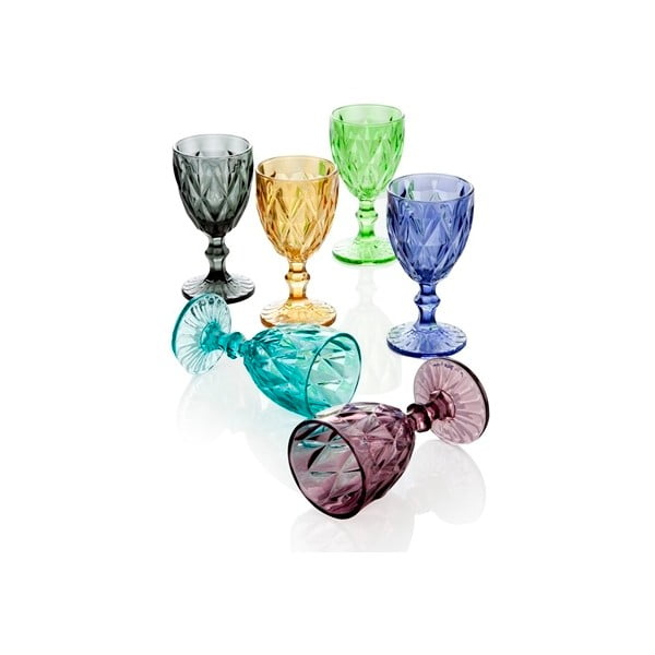 Set 6 pahare Diamante Goblet