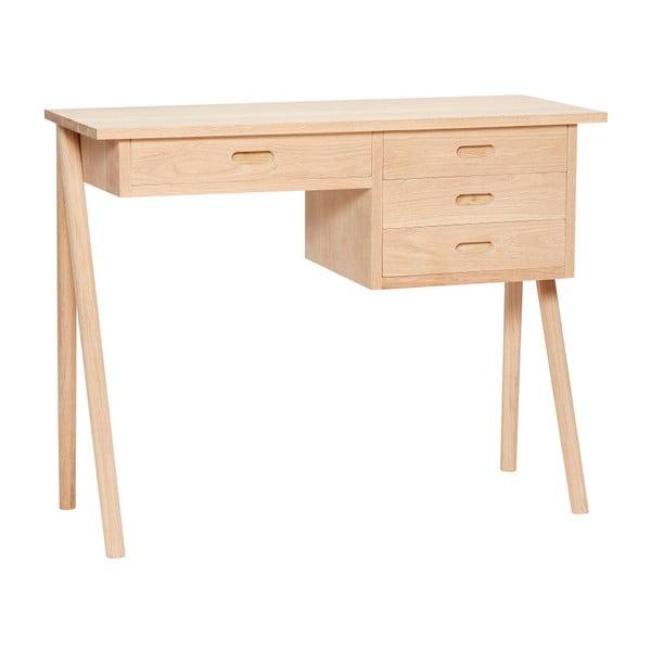 Ejnar tölgyfa íróasztal 4 fiókkal - Hübsch