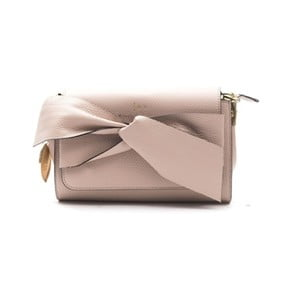 Růžovobéžová kožená kabelka f.e.v. by Francesca E. Versace Calima