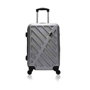 Šedý cestovní kufr na kolečkách Hero Lock, 36 l