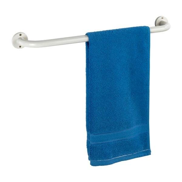 Bílý nástěnný držák na ručníky Wenko Basic, 60 cm