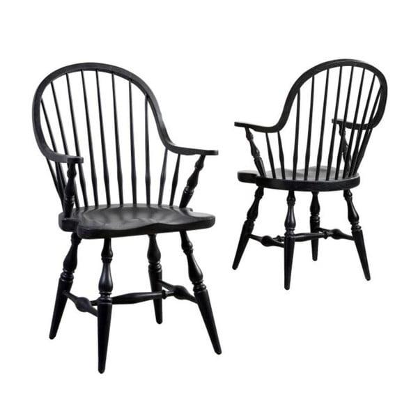 Černá jídelní židle z dubového dřeva Canett Wembley