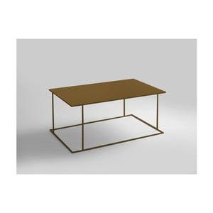 Konferenční stolek ve zlaté barvě Custom Form Walt, délka100cm