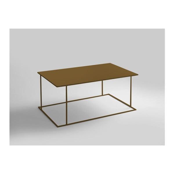 Walt aranyszínű dohányzóasztal, hossza 100 cm - Custom Form