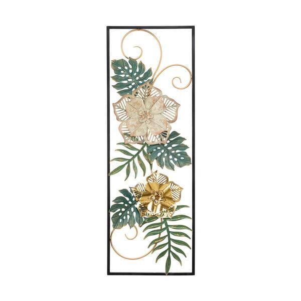 Kovová závěsná dekorace se vzorem květin MauroFerretti Campur-B-, 31x90cm