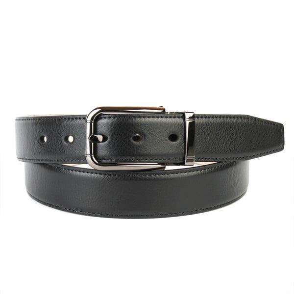 Pánský kožený pásek 3PT10 Black, 90 cm