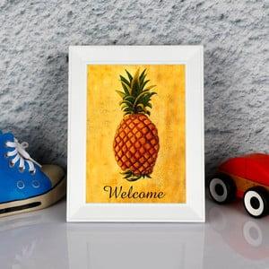 Zarámovaný obraz Dekorjinal Pouff Welcome, 23x17cm