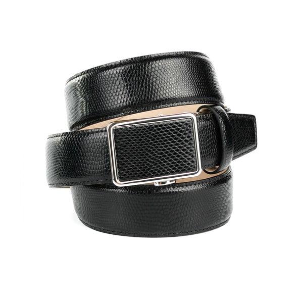 Pánský kožený pásek 17V10S Black, 90 cm