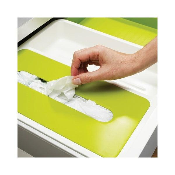 Přihrádky na fólie a sáčky Drawer Store Stowaway, bílé/zelené