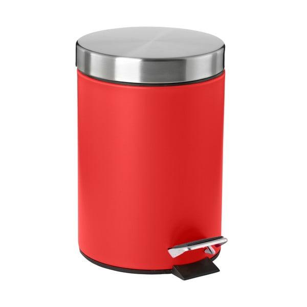Odpadkový koš s pedálem, červený