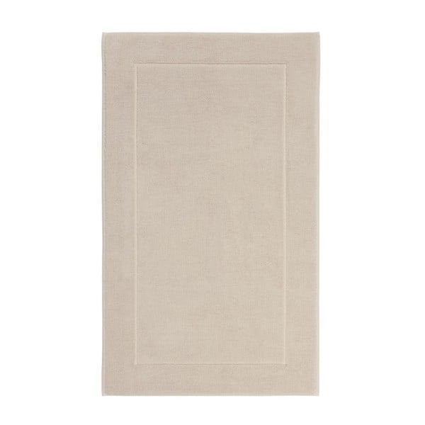 Béžová koupelnová předložka z egyptské bavlny Aquanova London, 60x 100cm