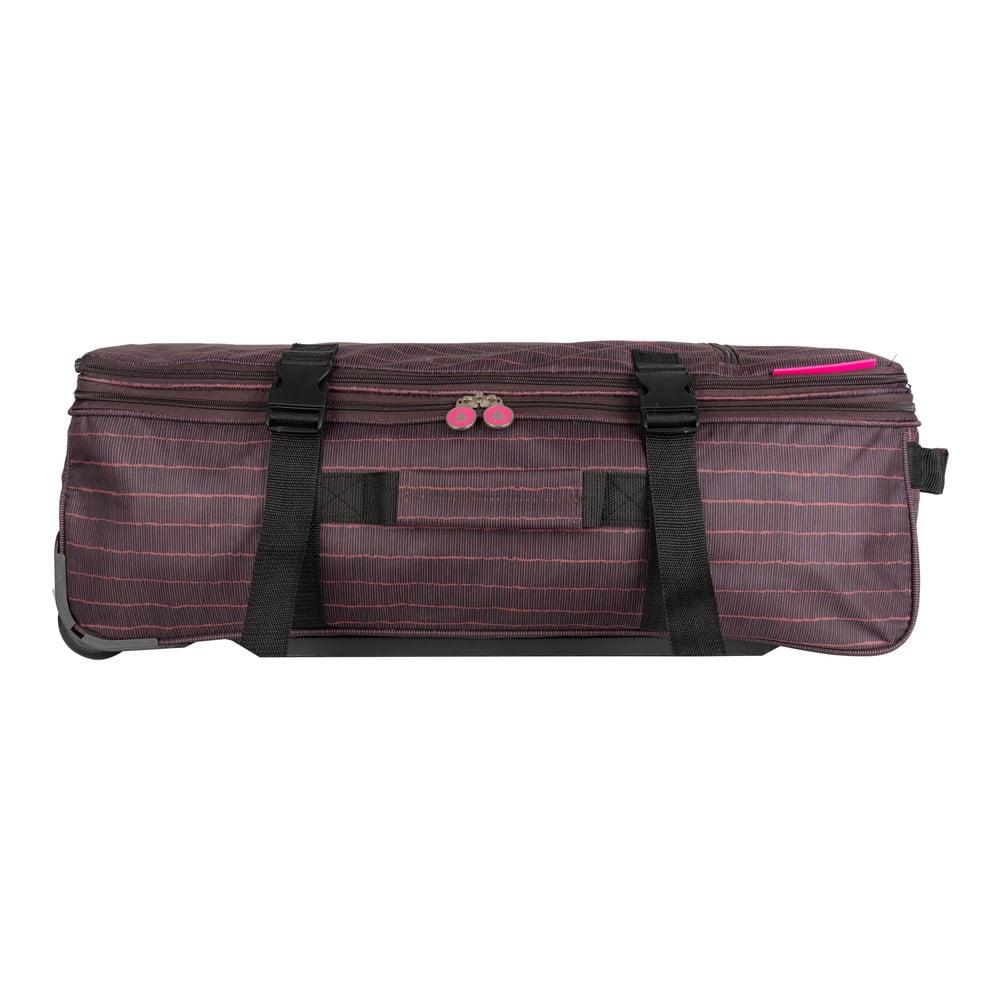 Hnědá cestovní taška na kolečkách Lulucastagnette Rallas, 91 l