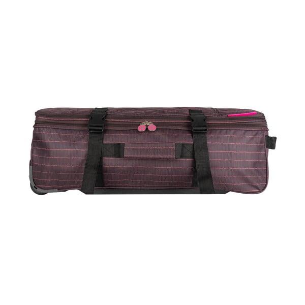 Hnedá cestovná taška na kolieskach Lulucastagnette Rallas, 91 l