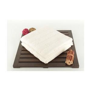 Sada 2 krémových ručníků Patlac, 50x90cm