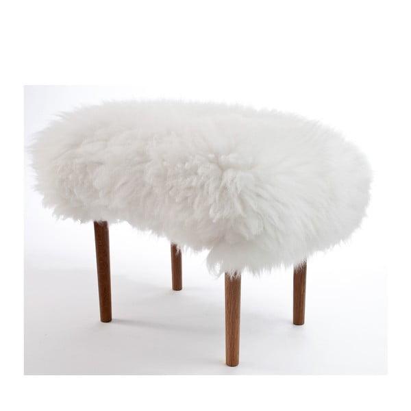 Stolička z ovčí kůže Ceri Ivory