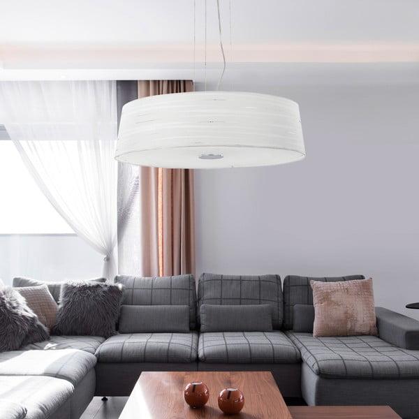 Bílé závěsné svítidlo Evergreen Lights Bukhan