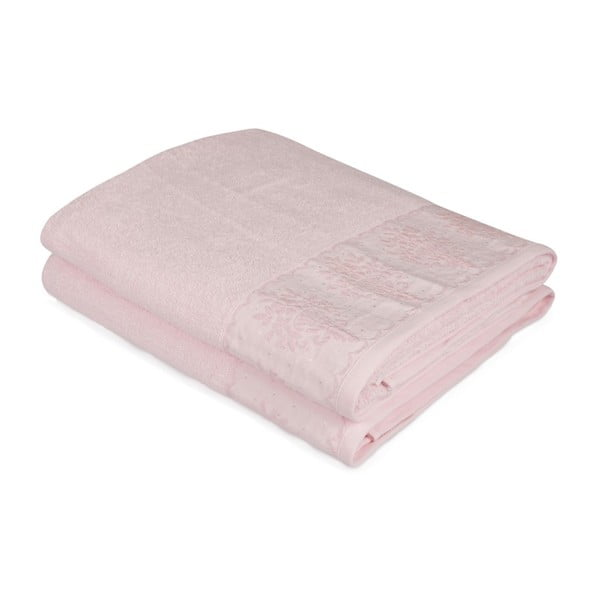 Set 2 prosoape baie Victorian, 150x90cm, roz