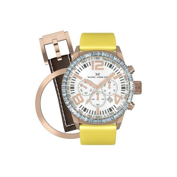 Dámské hodinky Marc Coblen s páskem a kroužkem navíc P35