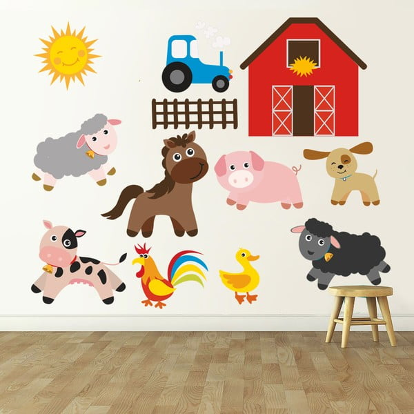 Samolepka na stěnu Farma, 120x90 cm