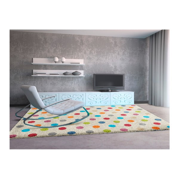 Covor Universal Norge White Dots, 80 x 150 cm
