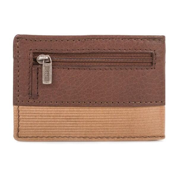 Kožená peněženka Lois Double Brown, 11x7,5 cm