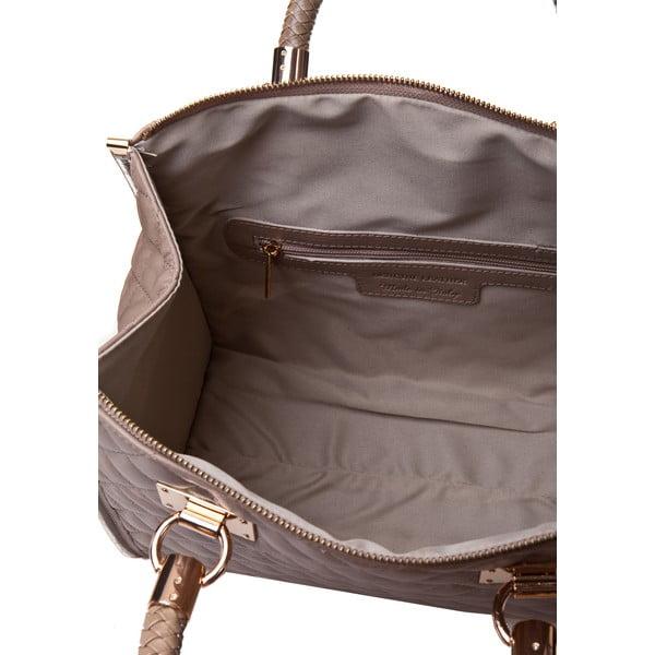 Béžová kožená kabelka Massimo Castelli Nappa