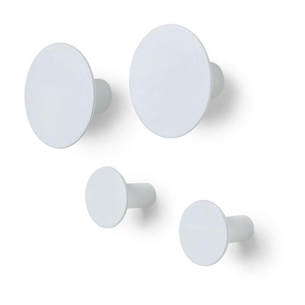 Sada 4 šedobílých nástěnných háčků Blomus Ponto