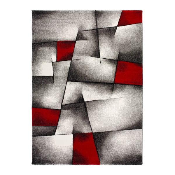 Malmo szürke-piros szőnyeg, 160 x 230cm - Universal