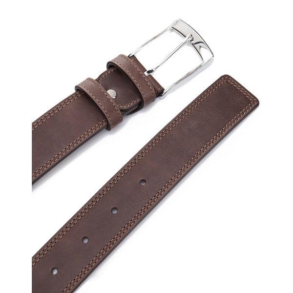 Kožený pásek Elegant Brown, 120 cm