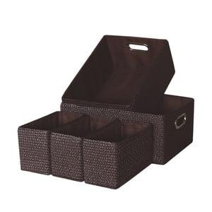 Sada 5 úložných krabic Laroom Chocolate