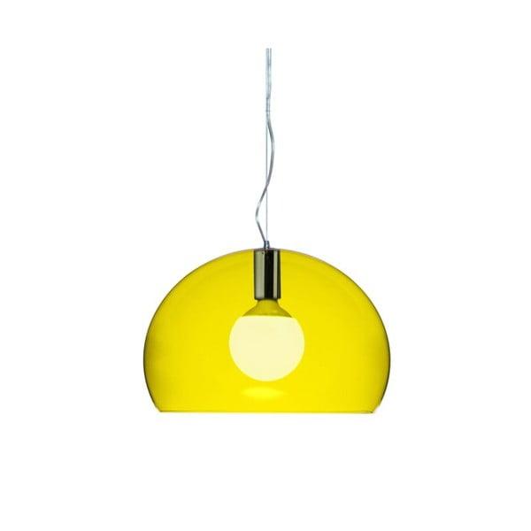 Menší žluté stropní svítidlo Kartell Fly