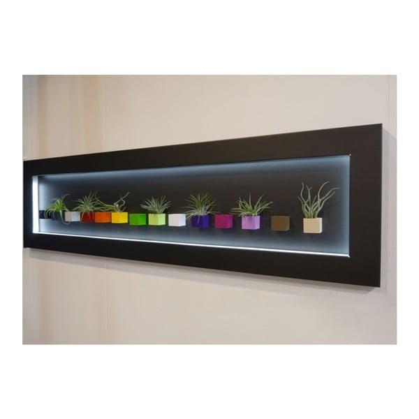 Svítící LED obraz 41x150 cm, černý