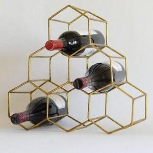 Stojan na lahve ve zlaté barvě Masivworks Polygono Bee Pyramid