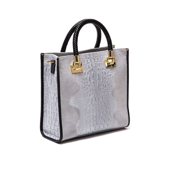 Kožená kabelka Isabella Rhea 8010 Grigio