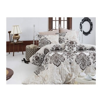 Set lenjerie de pat din bumbac pentru pat dublu Ranforce Luxy, 200 x 220 cm de la Nazenin Home