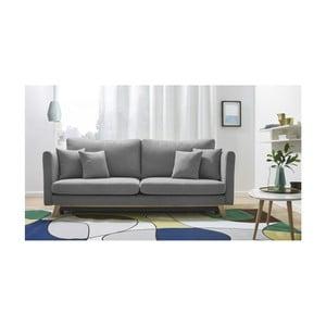 Canapea extensibilă cu 3 locuri Bobochic Paris Triplo, gri