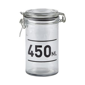 Skleněná dóza s víkem KJ Collection Jar, 450 ml