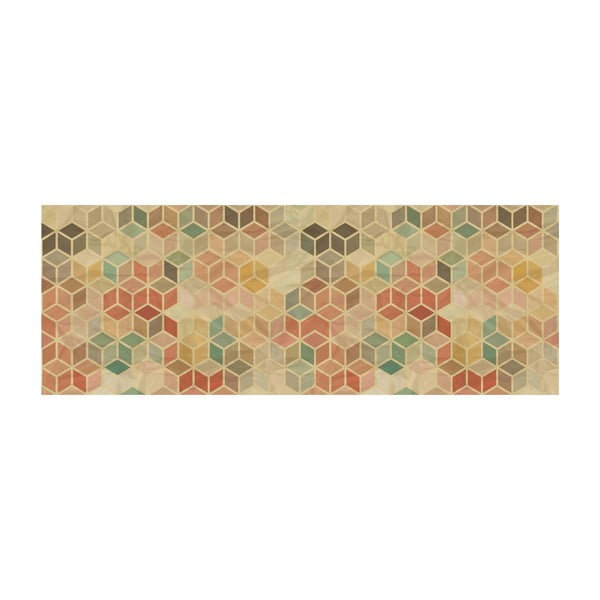 Vinylový koberec Cubos Vintage, 50x140 cm