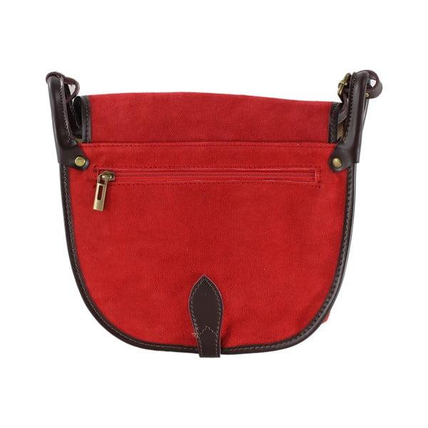 Kožená kabelka přes rameno Gina, červená