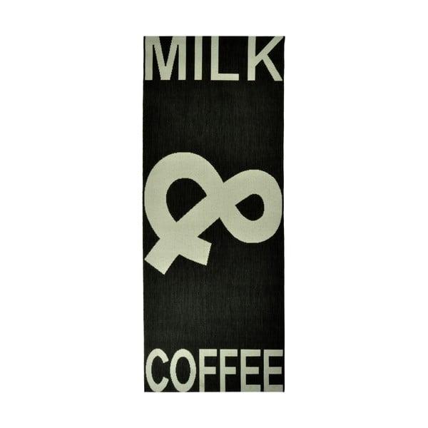 Kuchyňský koberec Milk&Coffee 80x200 cm, černý