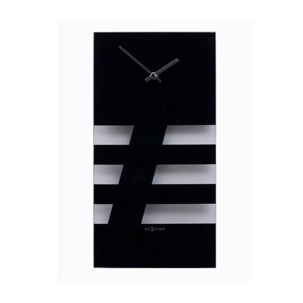 Kyvadlové hodiny Bold Stripes, černé