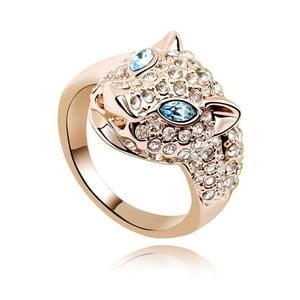 Pozlacený prsten s modrými krystaly Swarovski Fiera, velikost 54