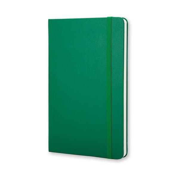 Malý zelený zápisník Moleskine Hard, bezlinek