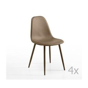 Sada 4 hnědošedých židlí Design Twist Jos