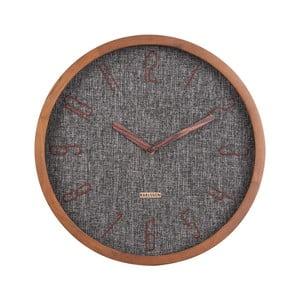 Tmavě šedé nástěnné hodiny Karlsson Canvas,ø35cm