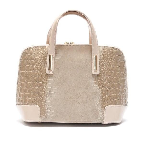 Béžová kožená kabelka Mangotti Jasminum